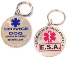 service dog and emotional support animal tag
