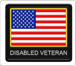 disabled veteran patch with american flag