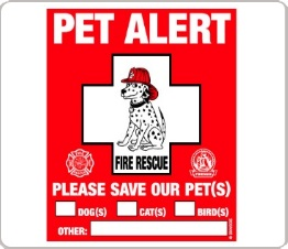 pet alert dog safety sticker