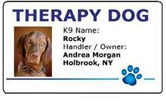 Therapy Dog Id Badges
