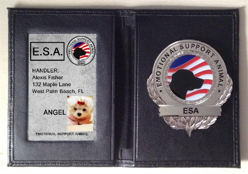 Working Service Dog Emotional Support Dog Wallet