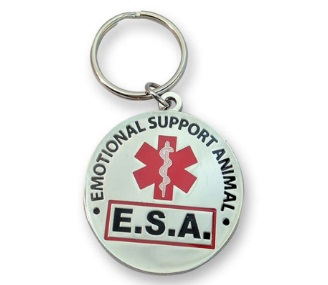 Emotional Support Animal Round Tag