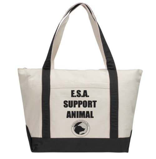 emotional support animal esa tote bag