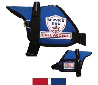 Blue Padded Service Dog Full Access Vest