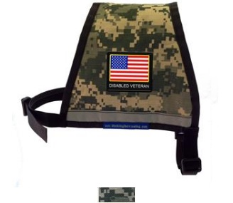 Camouflage Disabled Veteran Reflective Dog Vest