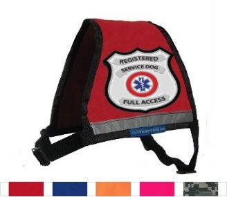 Red Small Registered Service Dog Reflective Vest