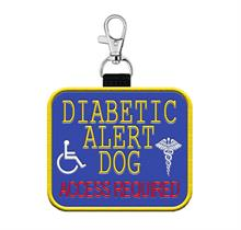 Diabetic Alert Dog Patch Tag
