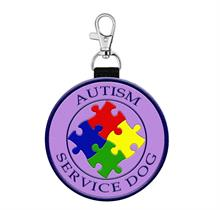 autism service dog hanging tag