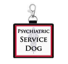 Psychiatric Service Dog Identification Patch Tag