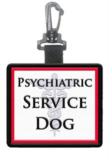 Psychiatric Service Dog Patch Tag