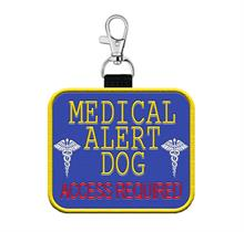 medical alert dog patch tag