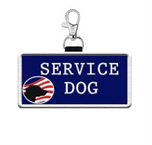 Patriotic Service Dog Patch Tag