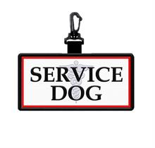 Bold Service Dog Patch Tag