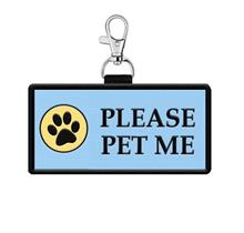 Please Pet Me Hanging Patch Tag