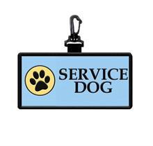 Service Dog Hanging Patch Clip with paw print