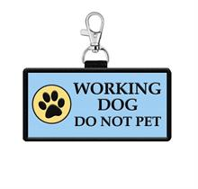 Working Dog Do Not Pet Hanging Patch Identification