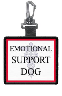 Emotional Support Dog Patch Clip