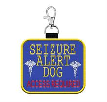 seizure alert dog hanging patch tag