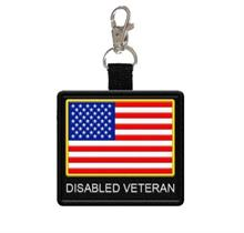 disabled veteran hanging patch tag