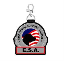 Emotional Support Animal Hanging Patch Clip