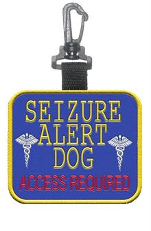 Seizure Alert Dog Patch Tag