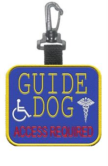 Guide Dog Patch Tag