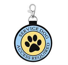 service dog hanging patch tag with paw print