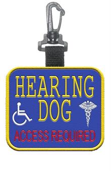 Hearing Dog  Access Required Patch Tag
