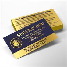 service dog law handout cards