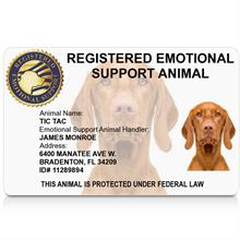 registered emotional support animal id card