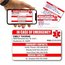 IN CASE OF EMERGENCY WALLET CARD
