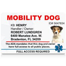 Mobility Dog PVC ID Badge