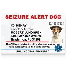 Seizure Alert Dog PVC ID Badge