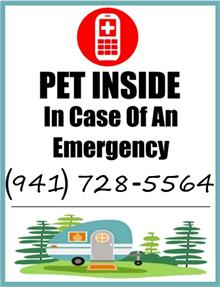 Camper Pet Inside In Case of Emergency