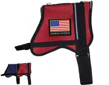Red Mesh Vest with Disabled Veteran Patch