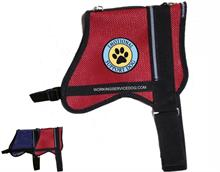 Red Mesh ESA Emotional Support Paw Print Vest