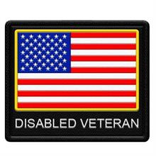 Disabled Veteran Flag Patch