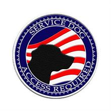 service dog American flag patch