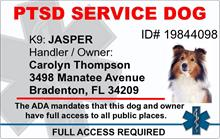 PTSD Service Dog PVC ID Badge - 2 Sided - Star of Life
