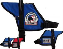 Blue Padded Emotional Support Animal Vest