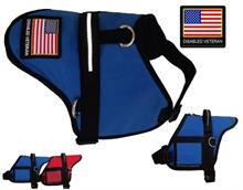 Blue Disabled Veteran Padded Dog Vest