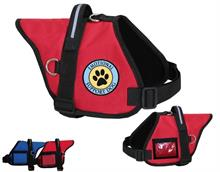 Red Padded Emotional Support Animal Paw Print Vest
