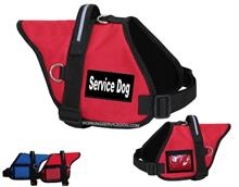 Red Service Dog Padded Dog Vest with Black and White Patches