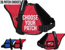 Red Padded Service Dog Vest