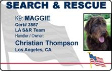 Search and Rescue ID Card