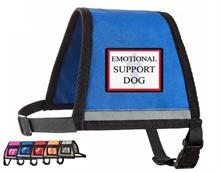 Blue Reflective Emotional Support Dog Vest with Zipper Pocket