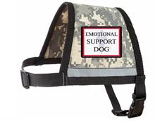 Camoflage Reflective Emotional Support Dog Vest with Zipper Pocket