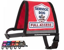 Red Complete Service Dog Full Access Reflective Vest