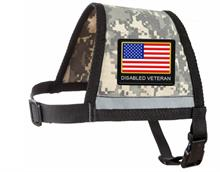 Camoflage Service Dog Diabled Veteran Reflective Zipper Pocket Vest