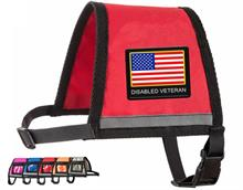 Red Reflective Disabled Veteran Vest with Zipper Pocket